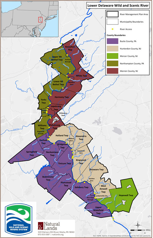 Lower Delaware Wild & Scenic Outreach Map